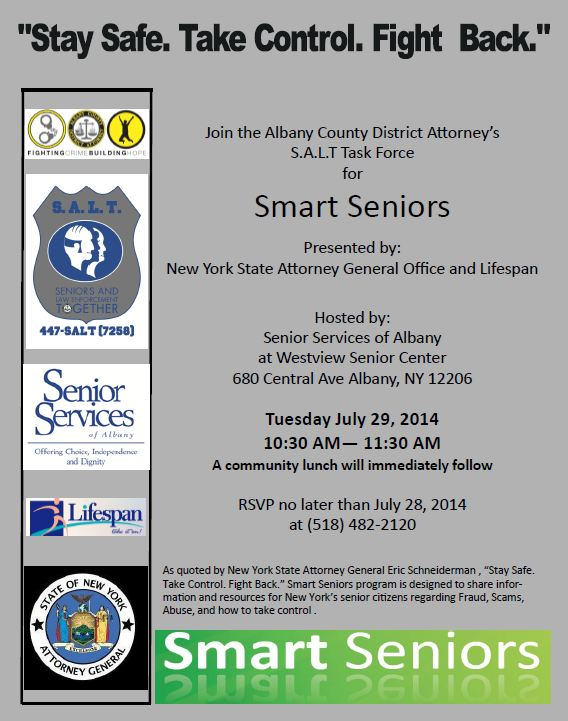 In The News > Smart Seniors Event Announced for July 29th