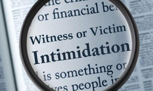 Intimidating or tampering with a witness